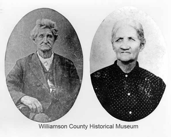 Daniel and Nancy Harrison, date unknown. Daniel and Nancy married in 1840. Oral tradition suggests that Daniel Harrison was a San Jacinto veteran (this claim has yet to be confirmed or disproved). Harrison was a CSA veteran, an early pioneer of Williamson County, and one of the first settlers of Corn Hill.