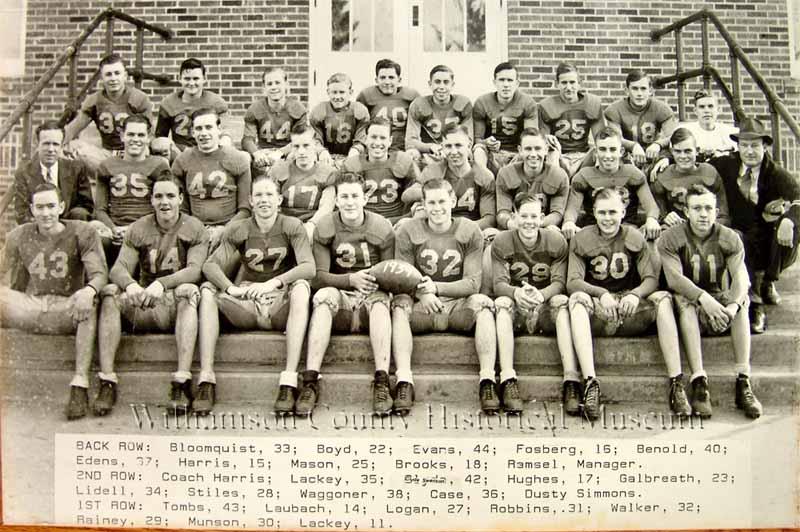 Football Team of 1939