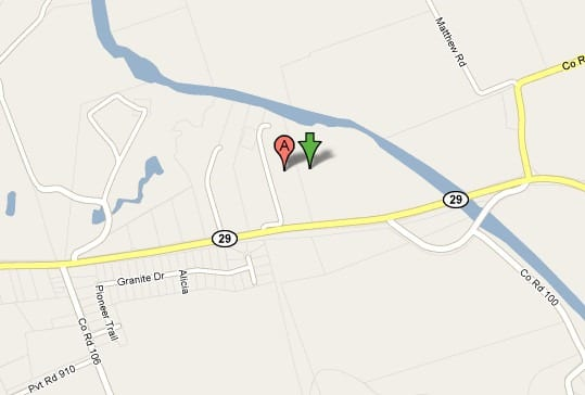 Mankins_Family_Cemetery_road_map