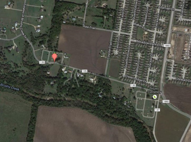 Hutto_Lutheran_cemetey_map