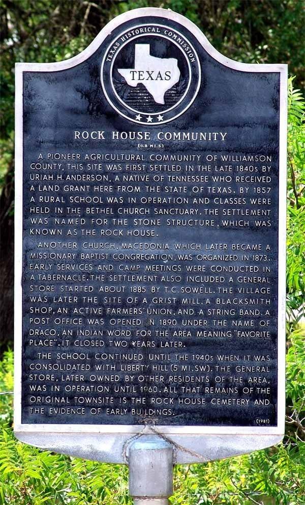 "<a href=""#"">Rock House Community - Historical Marker 1936</a>"